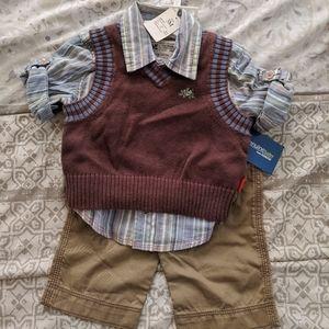 OSHKOSH 3 PIECE SET FOR BABY BOY 3 MONTHS